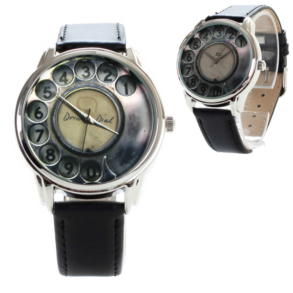 jewels telephone old telephone vintage black grey watch watch ziziztime ziz watch