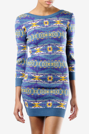 Opening Ceremony Pendleton x Opening Ceremony Knit Sheath Dress in Lavender :: tobi