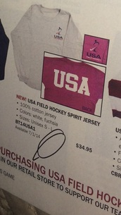 shirt,usa,field hockey,pink shirt,white top,white shirt,pink top,spirit jersey