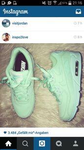 nike air max 90 womens mint green