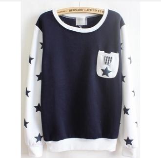 pockets sweater wheretofindit white dark blue style stars