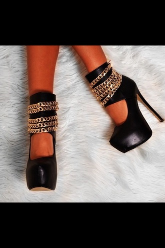 shoes black god high heels