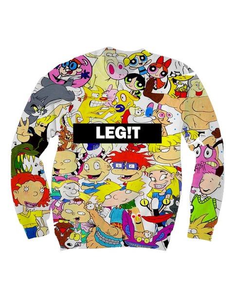 90s cartoon sweatshirt