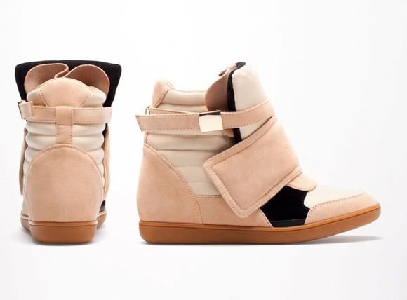 shoes sneakers wedge bershka wedge sneakers suade beige cream sports shoes bershka sneakers buy international