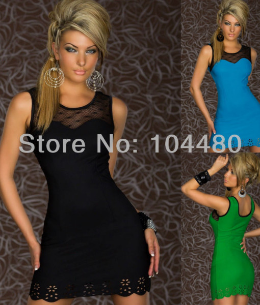 2014 new elegant women sleeveless sexy bodycon bandage casual mini dress | Amazing Shoes UK