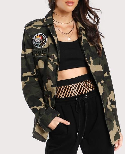 jacket girly camouflage camo jacket