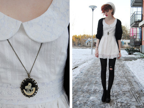 dress tumblr girl tumblr outfit tumblr clothes punk rock hipster punk punk punk band weretoget vans jewels rock all time low pierce the veil white dress lace dress lace cute dress