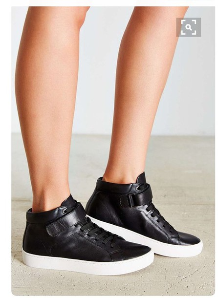 shoes urban outfitters sneakers high top sneakers black sneakers