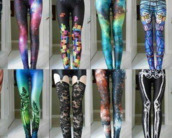 galaxy print,galaxy pants,skeleton,skeleton print,aztec,block,printed leggings