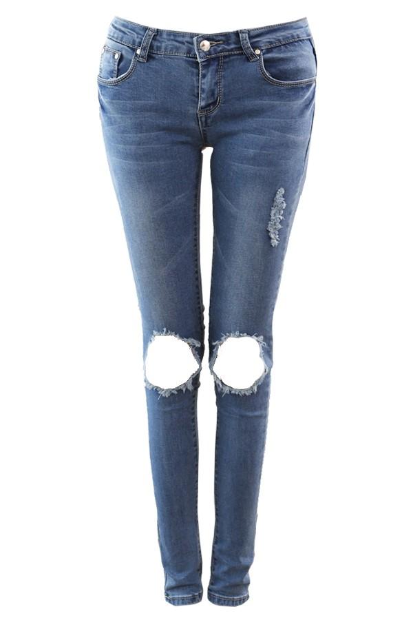 Torn Knee Skinny Jeans - All