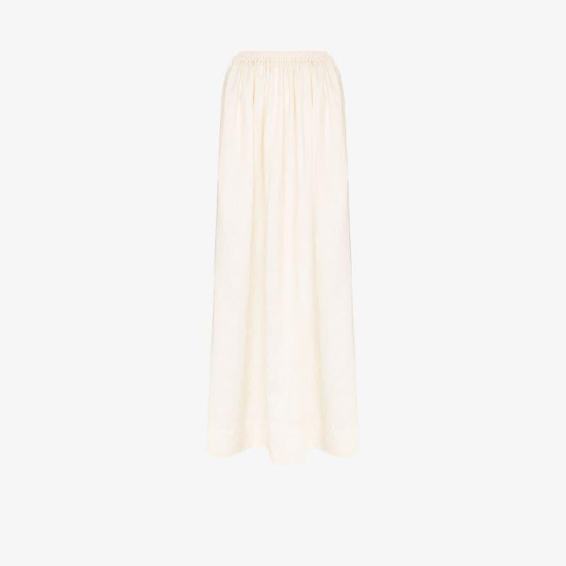 Matteau elasticated linen maxi skirt