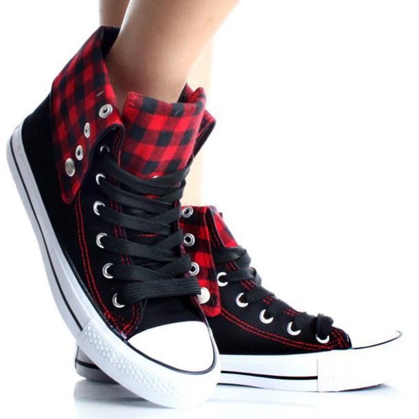 shoes where do i get it? black and red plaid