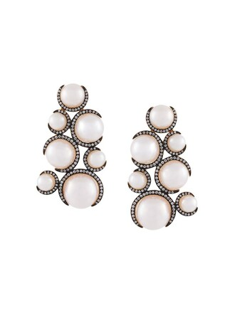 pearl earrings metallic women pearl earrings jewels