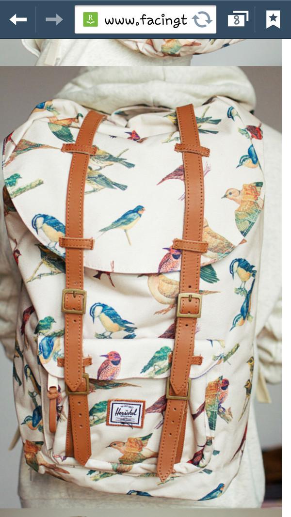 bag herschel supply co. herschel supply co. backpack school bag awesome bag birds