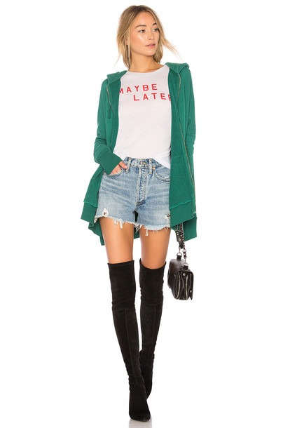 Wildfox Couture hoodie green sweater