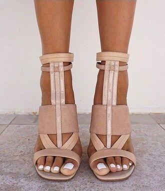 shoes tan heels love cute sandals