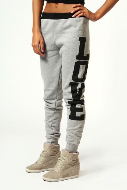 pants love grey sweatpants