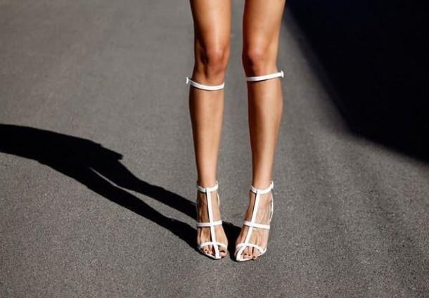 shoes strappy knee high sandal heels heels
