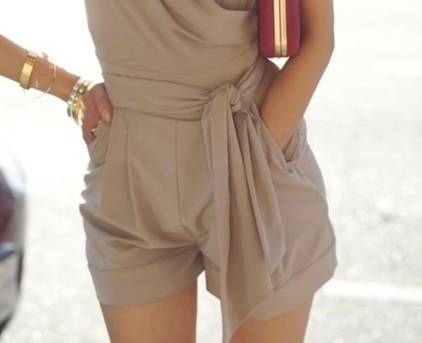 dress jumpsuit beige pants