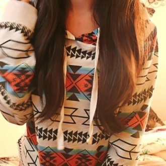jacket winter spring summer fall fashion cute girly tomboy sweater sweatshirt tribal print tribal jacket