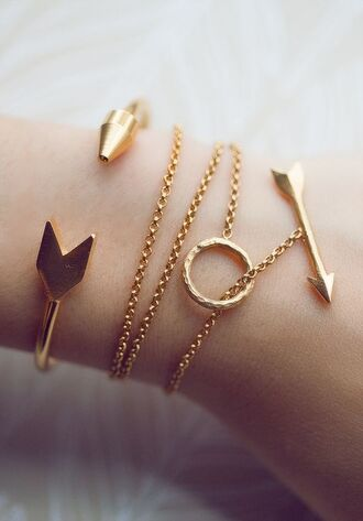 jewels bracelets arrow gold bracelets
