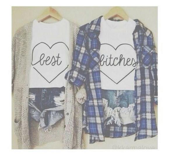 t-shirt best bitches heart