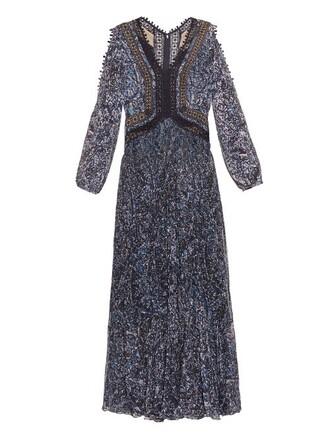 dress pleated dress pleated print navy