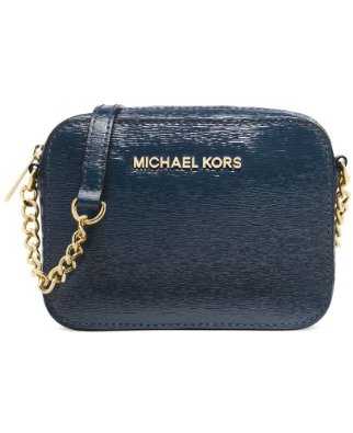 Amazon.com: Michael Michael Kors Jet Set Travel Crossbody in Navy Blue: Shoes