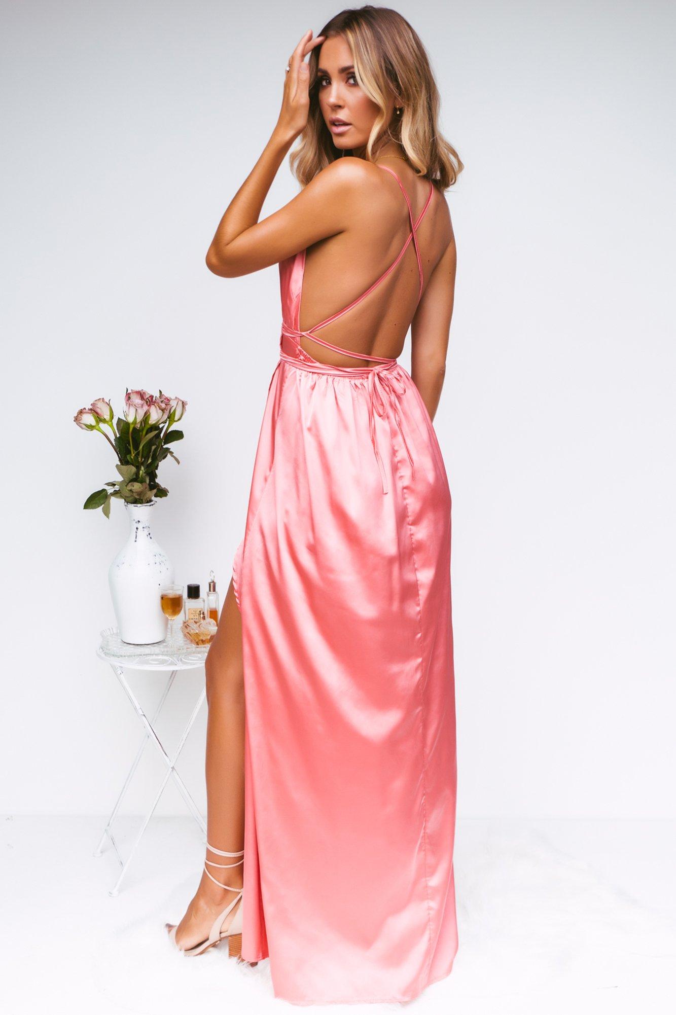 Girl On Fire Maxi Dress (Rose)