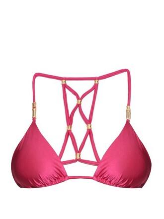 bikini bikini top triangle bikini triangle pink swimwear