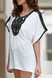 top,topshop,zaful,cover up,dress,black and white,summer dress,white dress,beach dress,girl,classy,trendy,dressfo,white,caftan,boho,summer,boho chic,beach caftan