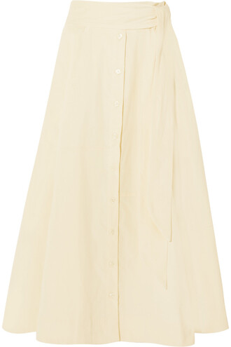 skirt midi skirt patchwork midi cream