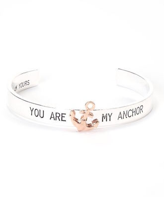 jewels bracelets anchor bracelet valentines day gift idea anchor mothers day gift idea love quotes sailor