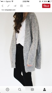cardigan,streetwear,streetstyle,coldweather,grey,black,urban outfitters,urban,light grey,long,hipster,long sleeves,grey cardigan,white top,minimalist,blouse,winter outfits,grey sweater,wool,jacket,winter jacket,mohair,long cardigan,long jacket,sweater,long sweater