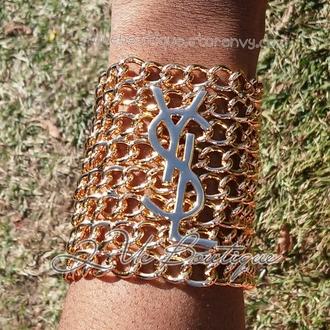 jewels ysl inspired ysl logo saint laurent ysl tshirts bracelets bracelet chains