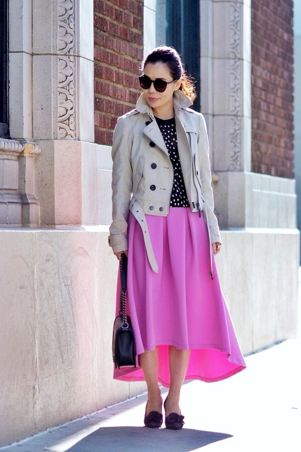 hallie daily coat t-shirt skirt bag shirt shoes jewels