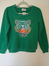 Fashion tiger print green sweater size small