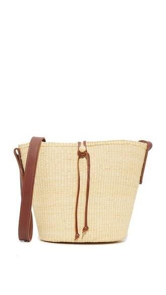 cross bag bucket bag camel