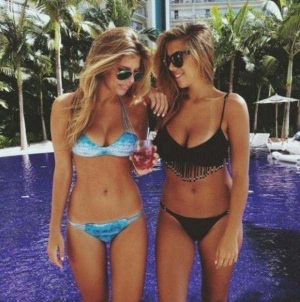 swimwear bikini black bikini black girl summer