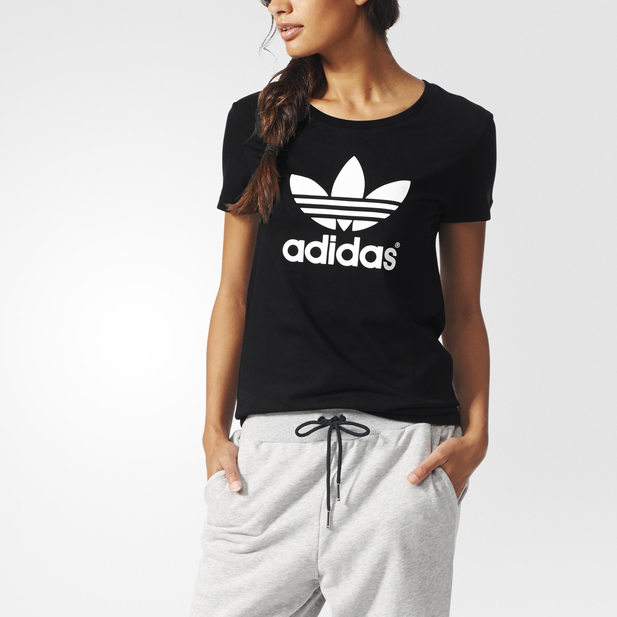 9e5fc82288c adidas Trefoil Tee - Black | adidas UK