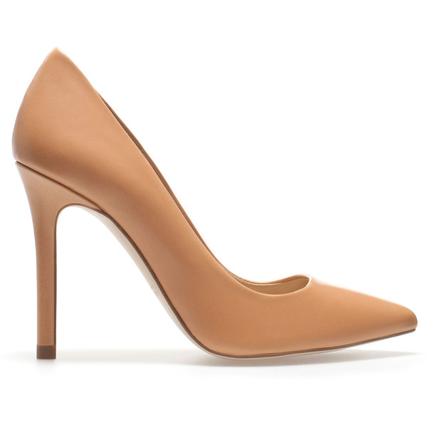 Zara Leather Court Shoe - Polyvore