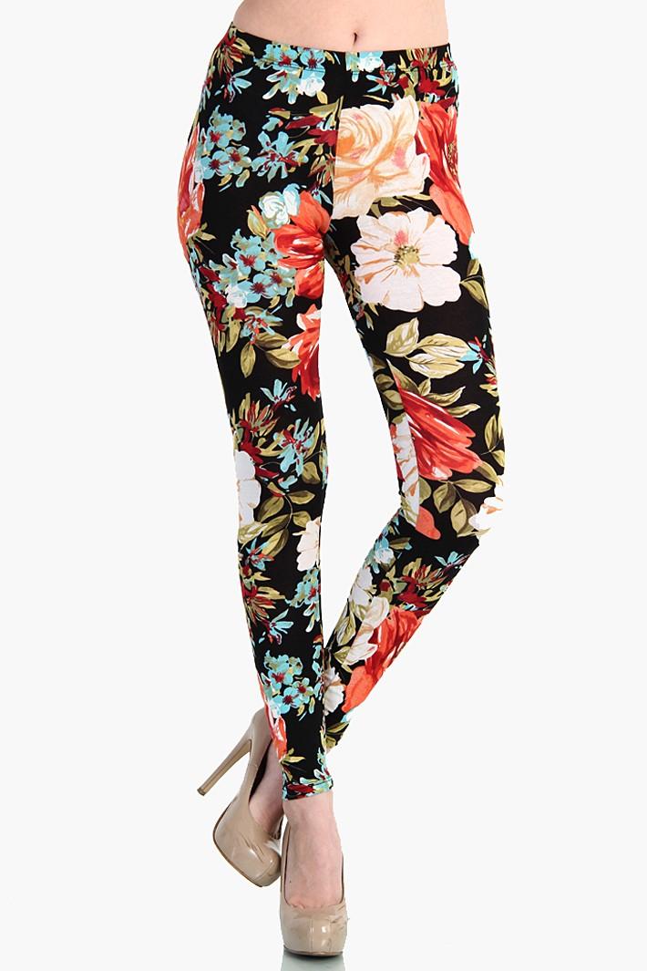 Classic floral leggings