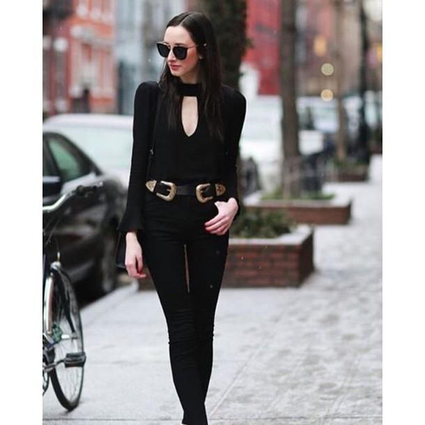 c288072d8 belt nastygal leather black gold western buckles buckles festival summer  spring fashion style blogger trendy 47301
