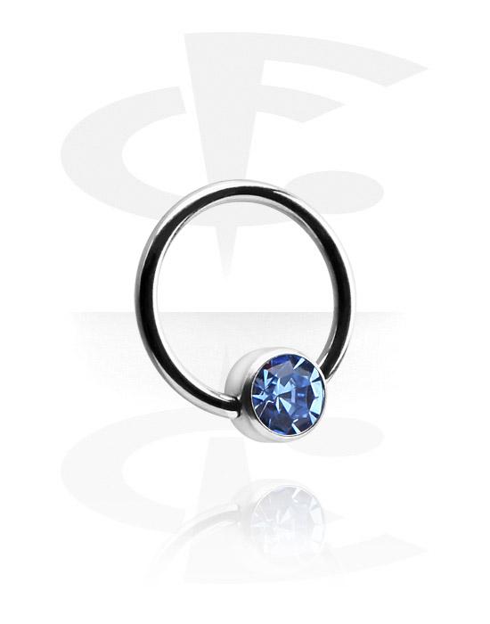 Jeweled ball closure ring for inner lip piercing [titanium]