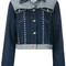 Tommy hilfiger - tommy x gigi studded denim jacket - women - cotton/spandex/elastane - 2, blue, cotton/spandex/elastane