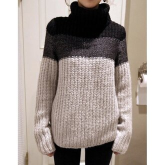 sweater ombre fall outfits gradient knitwear winter outfits fashion turtleneck long sleeves winter sweater trendsgal.com