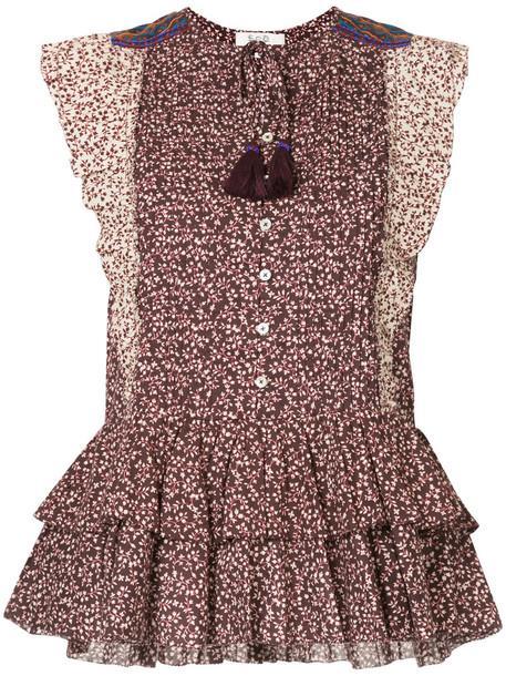 SEA blouse printed blouse women cotton top
