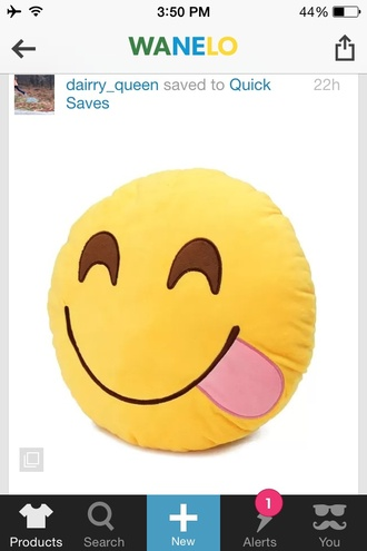 home accessory pillow emoji print