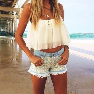 shirt summer outfits top shorts cute