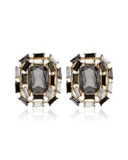 White House | Black Market Black Gold Faceted Stud Earring